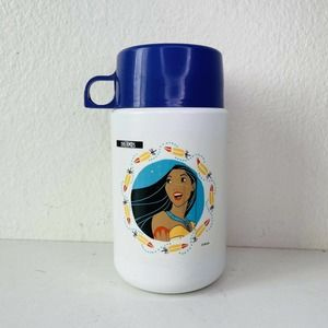 Pocahontas Thermos Lunch Box Bottle Purple Cup